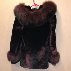 Jackets & Blazers - Russian Sable&Fox Trim Coat w/Luxe Hollywood Hood